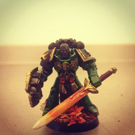 Salamander Space Marine Champion by Ben Edwards