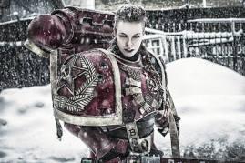 Cosplayer: Khelga Khromaya Character: Russian Inspired Space Marine Armour Made By: Roman Butko - https://vk.com/saxarr