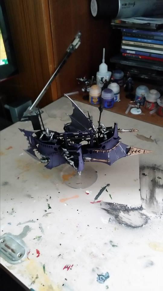 Dark Eldar Ravager by Sam Whymark