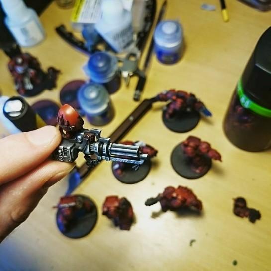 Blood Angel Assault Cannon by James Salisbury