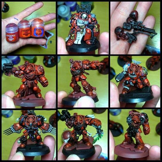 Blood Angel Terminators by James Salisbury