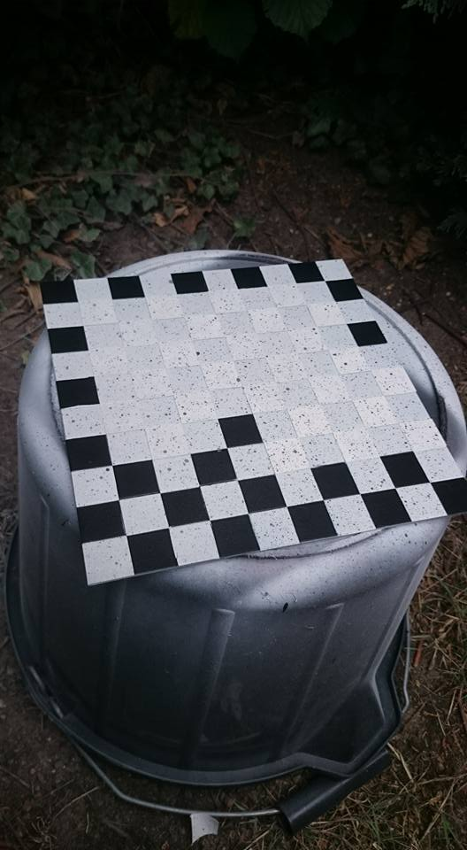 Checkerboard tile (for diorama) by James Salisbury